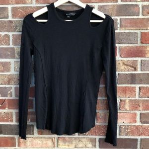Black long sleeve rock republic shirt- small